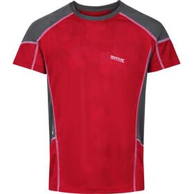 Regatta Camito Camiseta Hombre, rojo/gris
